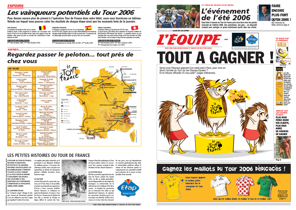 Tour de France 2006 ad campaign creation by e-glue studio
