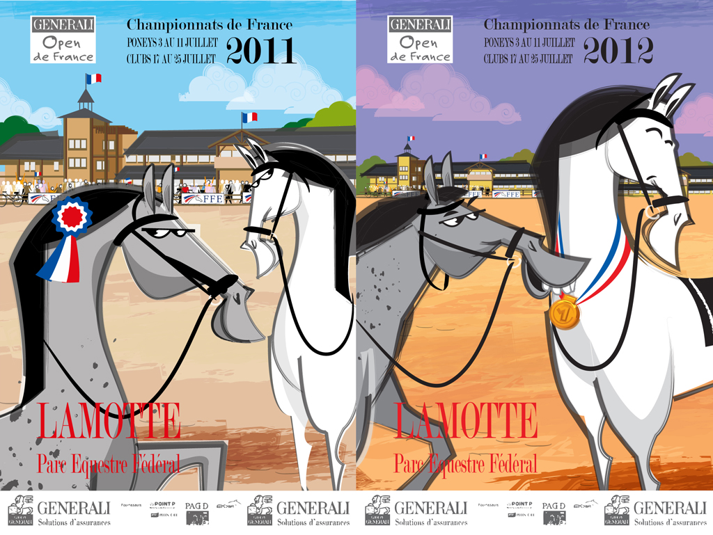advertising campaign for the France Equestrian championships 2011 by e-glue studio