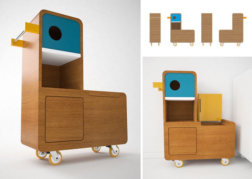 Quackie, duck storage multifunctional furniture for kids by E-Glue studio
