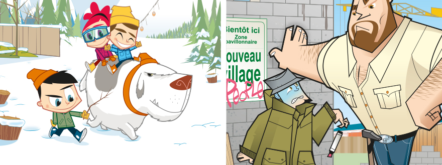 recherches personnelles, illustrations, par le studio E-Glue